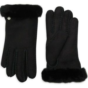 Ugg Shearling & Sheepskin Gloves in Black NEW